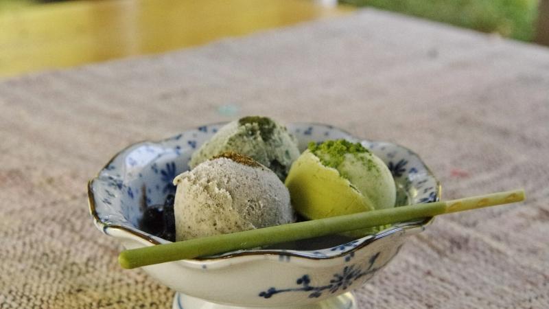 お茶三種アイスクリーム