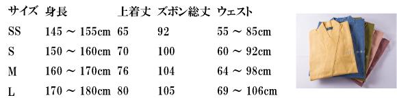 室医サイズ表