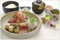 伊豆特産金目鯛の煮付けとお刺身