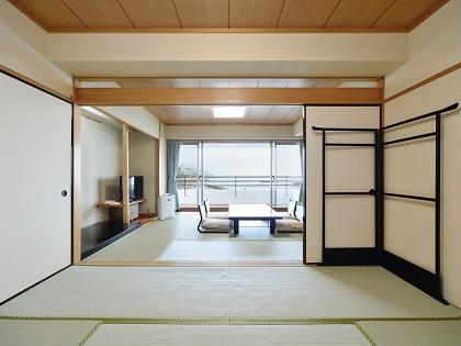 客室はゆったり広々和室(10畳+6畳タイプ)